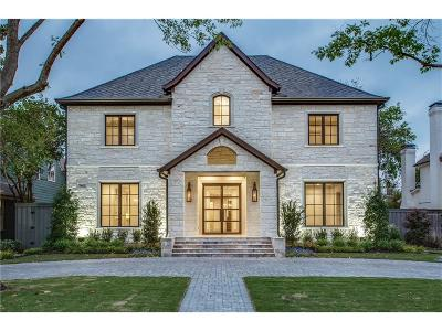 Dallas, Highland Park, University Park Single Family Home For Sale: 7642 Bryn Mawr