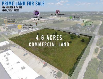 Heath Commercial Lots & Land For Sale: 00 Fm 549/Horizon Road