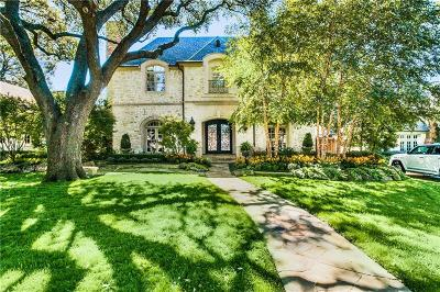 Dallas, Highland Park, University Park Single Family Home For Sale: 3249 Greenbrier Drive