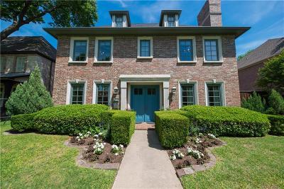 Dallas, Highland Park, University Park Single Family Home For Sale: 2712 Amherst Avenue