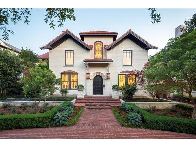 Highland Park Single Family Home For Sale: 3521 Beverly Drive