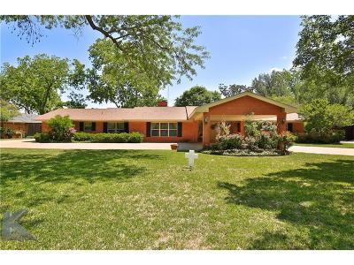 Abilene Single Family Home For Sale: 1417 Woodridge Drive