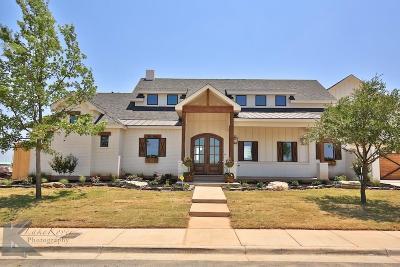 Abilene Single Family Home For Sale: 6717 Goodnight Loving Trail