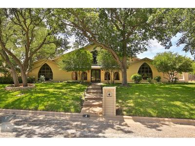 Abilene Single Family Home For Sale: 4 Turnberry Circle