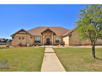 Abilene Single Family Home For Sale: 201 Alex Way