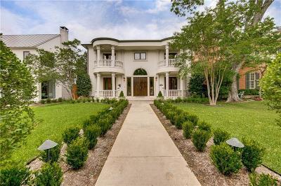 Highland Park, University Park Single Family Home For Sale: 3812 Hanover Street