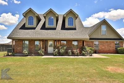 Abilene Single Family Home For Sale: 325 Pilgrim Road