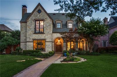 Dallas, Highland Park, University Park Single Family Home For Sale: 7808 Bryn Mawr Drive