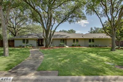 Dallas Single Family Home For Sale: 4250 Cedarbrush