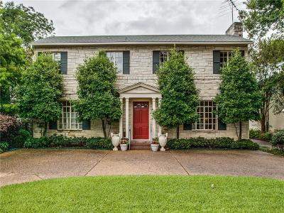 University Park Single Family Home Active Option Contract: 3706 Lovers Lane