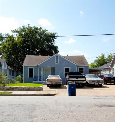 Dallas Single Family Home For Sale: 4322 Capitol Avenue