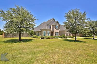 Abilene Single Family Home For Sale: 1510 Saddle Lakes Drive