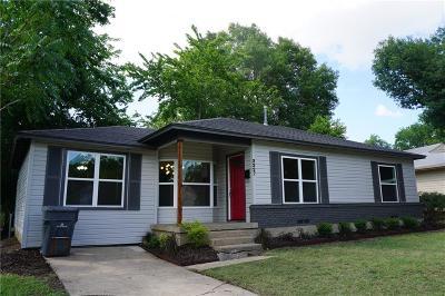 Dallas TX Single Family Home For Sale: $165,000