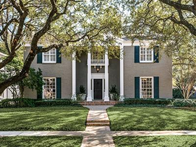 Highland Park TX Single Family Home For Sale: $1,024,000