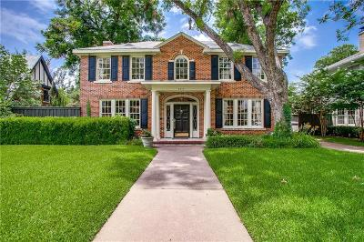 Dallas Single Family Home For Sale: 4317 Rawlins Street