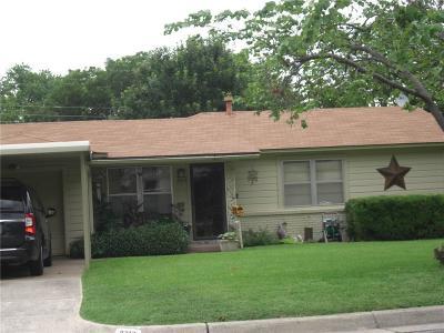 Haltom City Single Family Home Active Option Contract: 5313 Caroldean Street