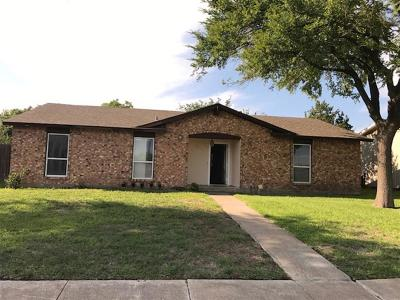 Mesquite Single Family Home Active Option Contract: 4017 Emerald Drive