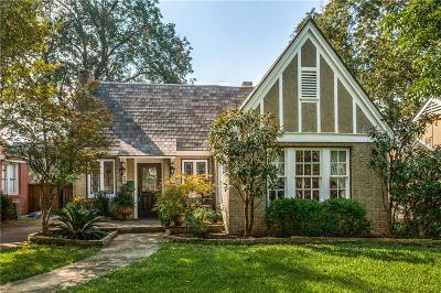 Dallas Single Family Home For Sale: 5222 Monticello Avenue