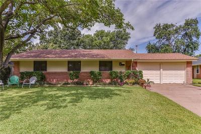 Irving Single Family Home Active Contingent: 3721 Devonshire Court
