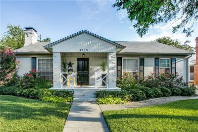 Dallas Single Family Home For Sale: 4915 Wren Way
