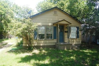 Stephenville Single Family Home Active Option Contract: 1081 W Shirley Street