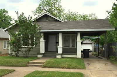 Fort Worth Single Family Home For Sale: 3008 Purington Avenue