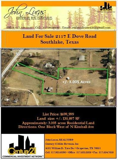 Southlake Residential Lots & Land For Sale: 2117 E Dove Road
