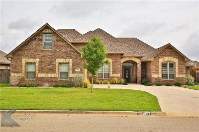 Abilene Single Family Home For Sale: 3902 Enchanted Rock Road