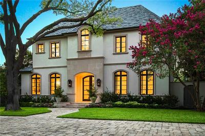 University Park TX Single Family Home For Sale: $3,999,000