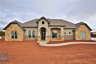 Abilene Single Family Home For Sale: 118 Scouts Cove