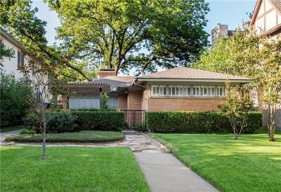 University Park Single Family Home For Sale: 3912 Stanford Avenue