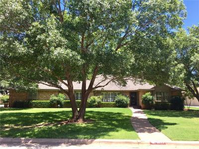 Abilene Single Family Home For Sale: 1477 Woodland Trail