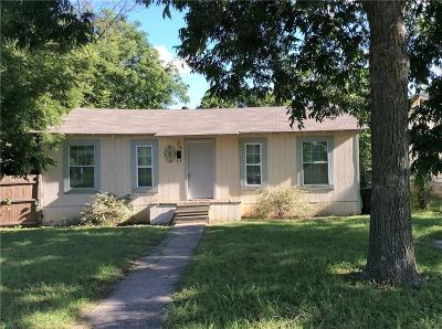 Fort Worth Single Family Home Active Option Contract: 5621 Lovell Avenue