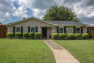 Plano Single Family Home Active Option Contract: 1433 Coffeyville Trail