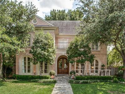 Dallas, Highland Park, University Park Single Family Home For Sale: 3231 Greenbrier Drive