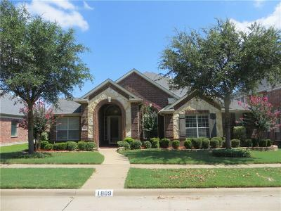 Garland Single Family Home For Sale: 1809 Mahogany Trail