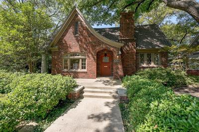 Dallas Single Family Home For Sale: 4411 N Hall Street