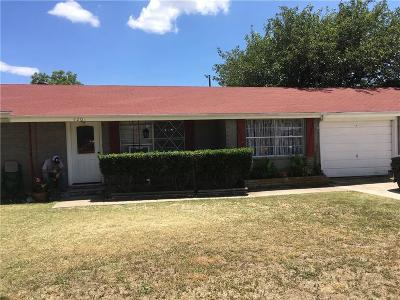 Single Family Home For Sale: 1207 Gantt