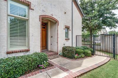 Coppell Townhouse For Sale: 852 Lake Vista Place