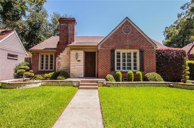 Dallas Single Family Home For Sale: 4312 Vandelia Street