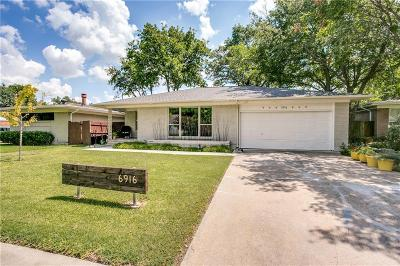 Dallas Single Family Home For Sale: 6916 Wake Forrest Drive