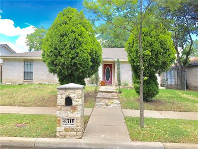 Garland Single Family Home For Sale: 4318 Mayflower Drive