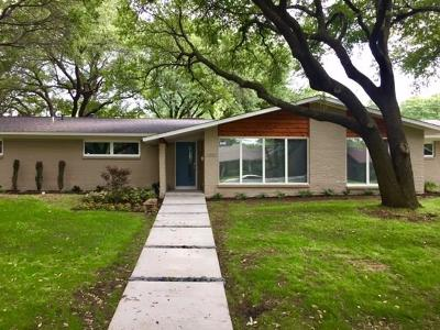 Dallas Single Family Home For Sale: 3350 St Cloud Circle