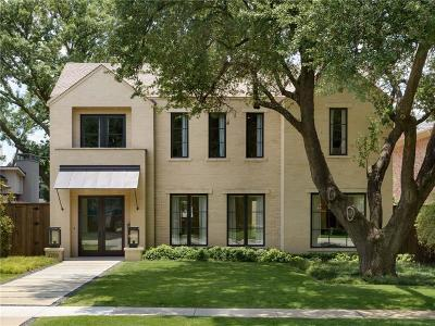 Highland Park, University Park Single Family Home For Sale: 2709 Westminster Avenue