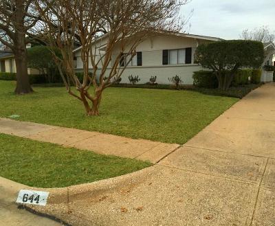 Parkview Estates Single Family Home For Sale: 644 Cambridge Drive