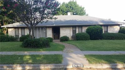Carrollton Single Family Home For Sale: 2409 Meadow Creek Drive