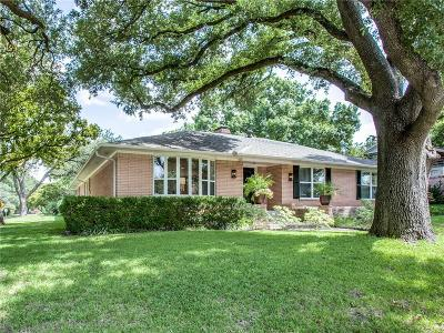 Dallas Single Family Home For Sale: 6954 Kingsbury Drive