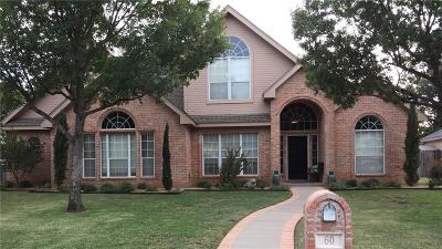 Abilene Single Family Home For Sale: 60 Pebble Beach Street