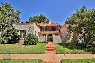 Abilene Single Family Home For Sale: 1042 Highland Avenue