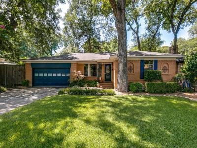 Dallas Single Family Home For Sale: 8023 Claremont Drive